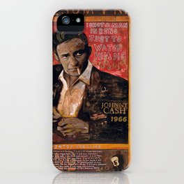 Red Johnny Cash iPhone Case
