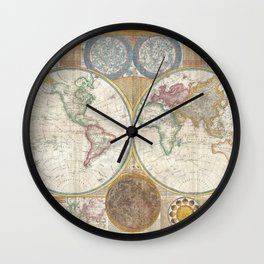 Old antique map Wall Clock