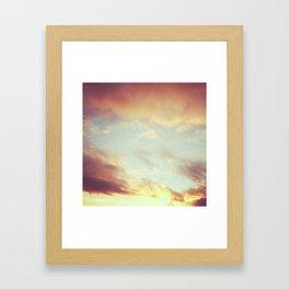 Fading Sunset Framed Art Print