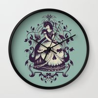 death Wall Clocks featuring Mrs. Death by Enkel Dika