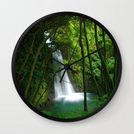 Waterfall in the Azores Wall Clock