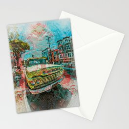 Old schooler Truck off the Mission District San Francisco Stationery Cards