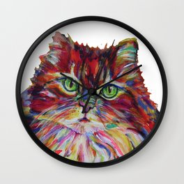 Fat Orange Cat Wall Clock