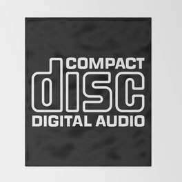 Compact Disk Digital Audio Logo - White Throw Blanket