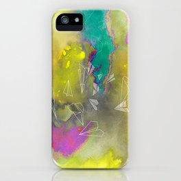 Planes in Watercolor iPhone Case