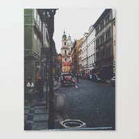 prague Canvas Prints featuring PRAGUE by REASONandRHYME