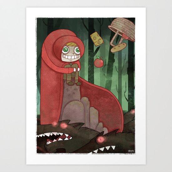 Miss Red's Mad Adventure Art Print
