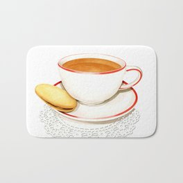 Cup of Tea and a biscuit Bath Mat