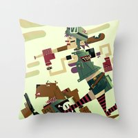 tank girl Throw Pillows featuring Tank Girl by Gabriela Zurda