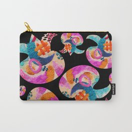pattern with embroidered lilies Carry-All Pouch