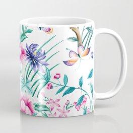 Colorful spring flowers & butterflies pattern Coffee Mug
