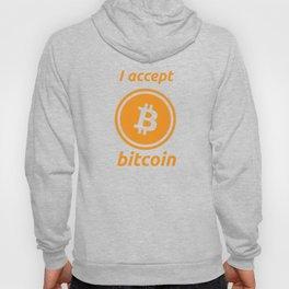 I accept bitcoin Hoody