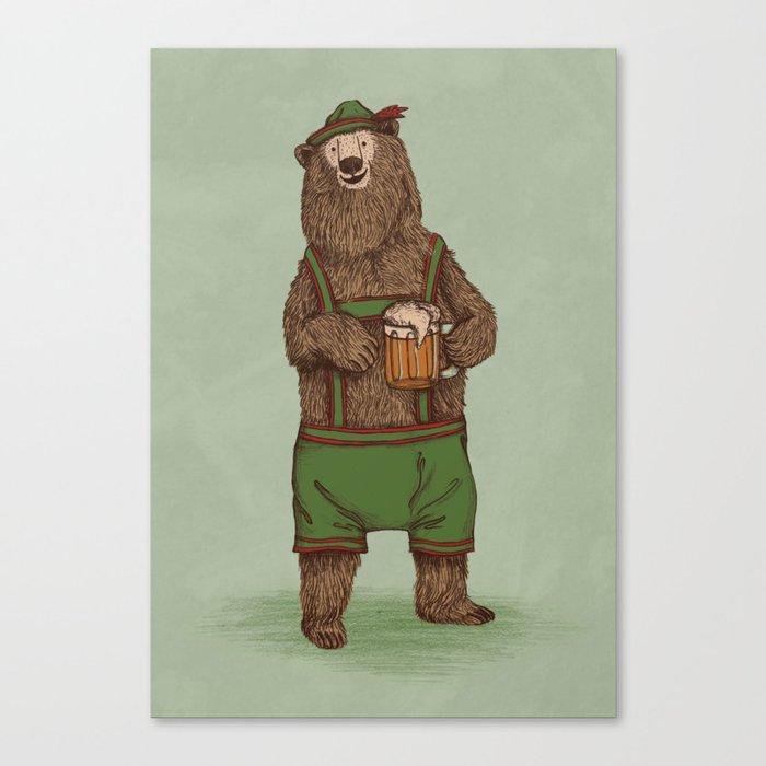 Traditional German Bear Canvas Print