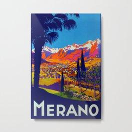 Merano Vintage Travel Poster Metal Print