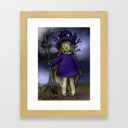 Puppy Witch Framed Art Print