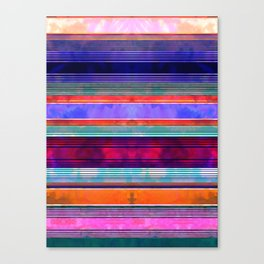 Serape Stripe Mexicali Canvas Print