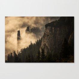 Xanadu - Mountains - Fog - Mystical Canvas Print