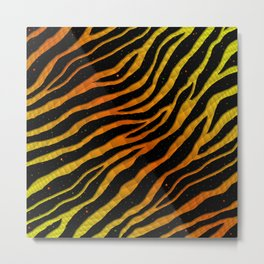 Ripped SpaceTime Stripes - Yellow/Orange Metal Print