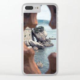 Sea rocks Clear iPhone Case