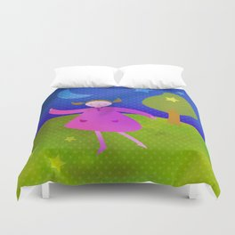 Dancing by the light of the moon Duvet Cover