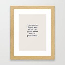 Bizarro Crap Framed Art Print