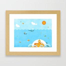 An Ocean Day Framed Art Print