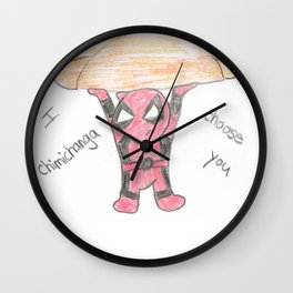 Merc Chimichanga Wall Clock