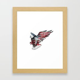 Watercolor bald eagle symbol of the United States Framed Art Print