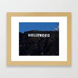 HOLLYWEED Framed Art Print