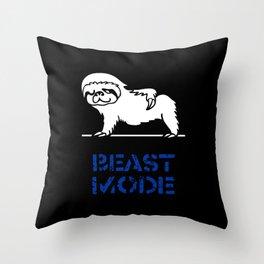 Beast Mode Sloth Throw Pillow