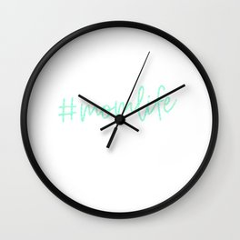 #momlife - Turquoise Wall Clock