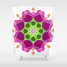 Mandala in crazy colors Shower Curtain