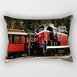 Black Hills Diesel Locmotive # 63 Abstract Rectangular Pillow