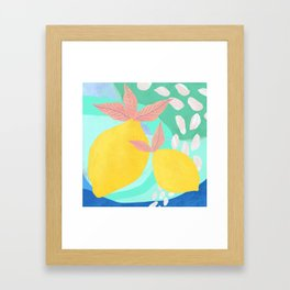 Pink Lemonade - Shapes and Layers no.32 Framed Art Print
