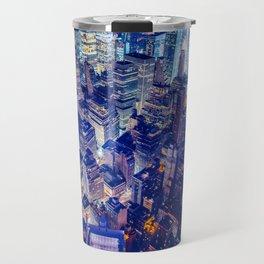 New York City Skyline at Night Travel Mug
