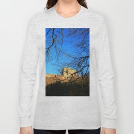 Castle Ruins on a Sunny Winters Day Long Sleeve T-shirt