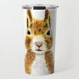 cute little squirrel watercolor Travel Mug