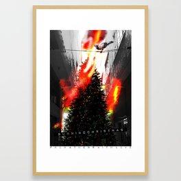 Burning Christmas Framed Art Print