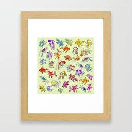 Fish Swimming in Sea Framed Art Print