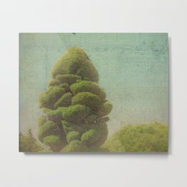 Fluffy Tree Metal Print