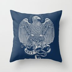 Grit Eagle Throw Pillow