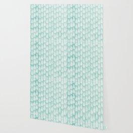 Big Drops Blush Blue Wallpaper