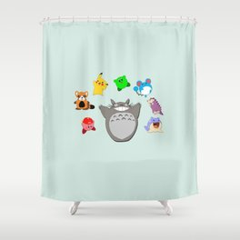 Video game Anime Character Rainbow Shower Curtain