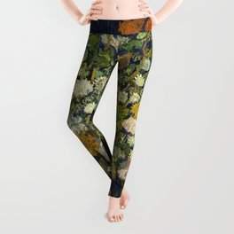 "Vincent Van Gogh ""Bouquet of Flowers in a Vase"" Leggings"