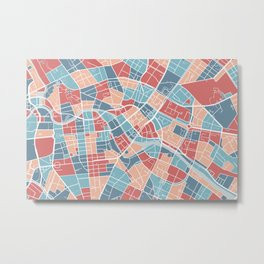 Berlin map, Germany Metal Print
