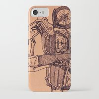 motorcycle iPhone & iPod Cases featuring Motorcycle by Sky Letson