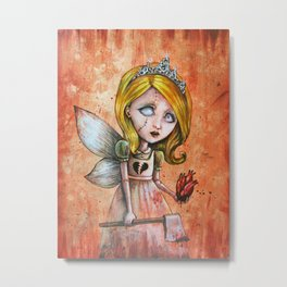 Love Hurts Dark Valentines Undead Fairy Princess Metal Print
