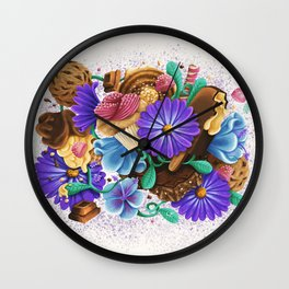 CANDY & FLOWERS Wall Clock