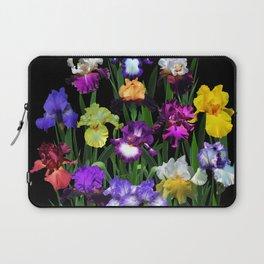 Iris Garden - on black Laptop Sleeve