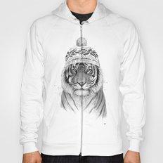Siberian tiger (b&w) Hoody